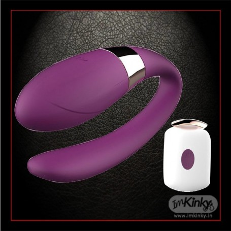 Wearable U Shape Remote Control Clitoris Luxury Vibrator LXV-030