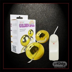 Multi Speed Golden Ben Wa Vibrating BallsToy BV-013