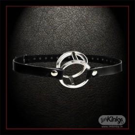 Double Metal Ring Gag for Him & Her IKBDSM-003