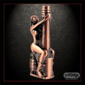 Firedog Women with Grenade Windproof Cigarette Lighter AG-004