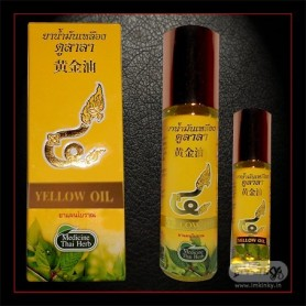 Thai herbal massage yellow oil THP-001